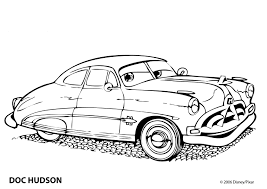 Cars Coloring Page Pages