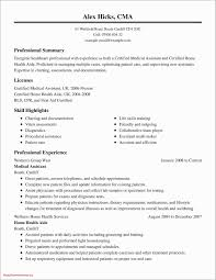 Professional Qualifications For Resume Valid Fresh Examples Resumes Ecologist 0d Summary