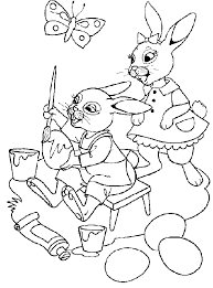 Easter Holiday Spring Coloring Pages Free For Kids Download Bunny Chicks Disney Duck Eggs Printable Book To Color 13