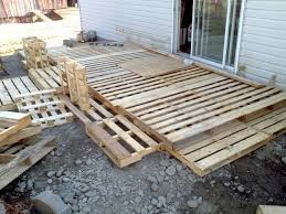 Making A Deck Out Of Wood Palettes Outdoor PalletPatio IdeasPool