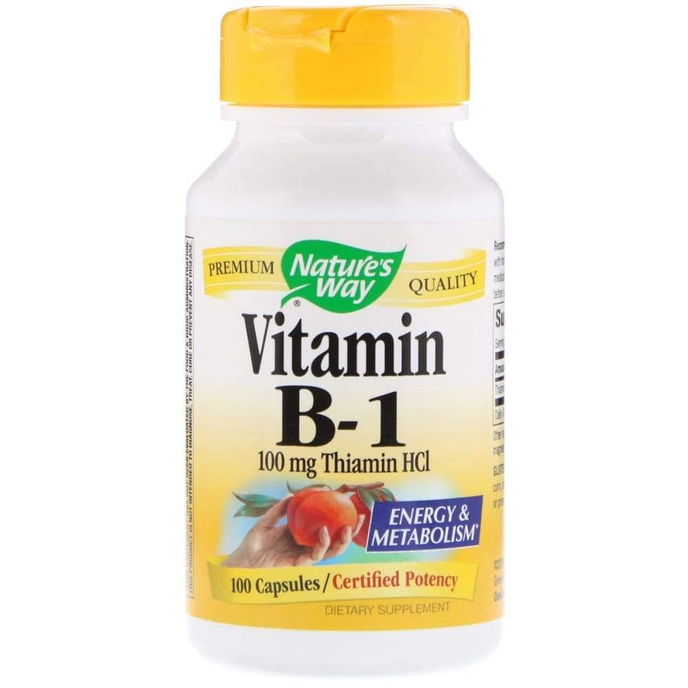 Nature's Way Vitamin B-1 Supplement - 100mg, 100 Capsules
