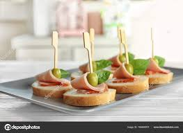 canapes for delicious canapes for stock photo belchonock 169446974