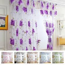 gardine blumenvorhang vorhang schlafzimmer wohnzimmer