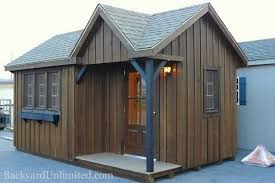 10x20 Storage Shed Plans by 10x20 Victorian Shed With Board U0026 Batten Siding Porch Custom