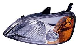 honda civic replacement headlight assembly 1 pair