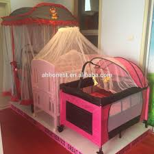 Fabric New Born Baby Swing Bed With Mosquito Net baby Crib baby