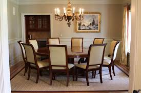Fantastic Round Dining Room Tables For 10 Delightful Decoration Throughout