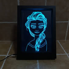 Battery Operated Lava Lamps by 2016 New Snow Queen Elsa 3d Illusion Led Lamp Photo Frame 7 Color