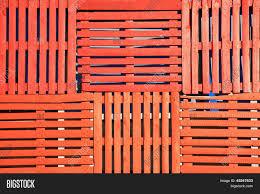 Orange Wooden Pallets Background