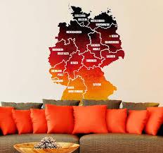 wandtattoo wohnzimmer karte bundesländer