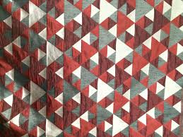 Geometric Pattern Grommet Curtains by Red N Grey Origami Geometric Pattern Curtain Fabric Upholstery