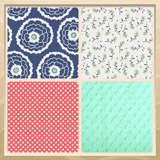 Coral And Navy Baby Bedding by Nursery Beddings Coral Crib Bedding Pottery Barn As Well As