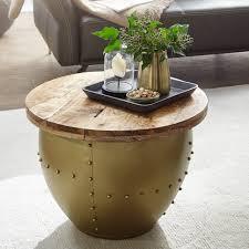 wohnling couchtisch mango massivholz metall 60x43x60 cm industrial style rund design wohnzimmertisch mit stauraum moderner loungetisch sofatisch