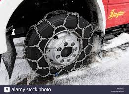 100 Snow Chains For Trucks St Margen Germany 30th Nov 2017 Chains Mounted On The
