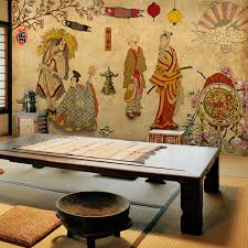 Custom Vintage Japanese Ukiyo E Ladies 3D Wallpaper For Wall 3d