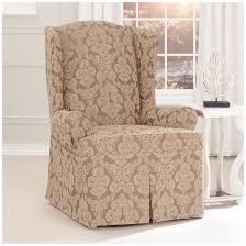 Sure Fit Wing Chair Recliner Slipcover by Sure Fit Middleton Wing Chair Slipcover 581238 Furniture