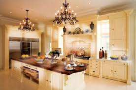 Smart Ideas For Galley Kitchen Layout Designs Vintage And Beautiful Chandelier Over The Curve