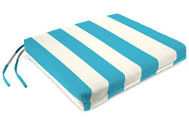 Home Accents 19 X 18 French Edge Seat Cushion Turquoise White