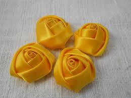 Yellow Mini Rolled Rose, 1.5