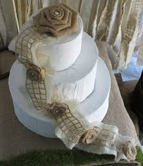Burlap Cake Topper Rustic Wedding Decoration Flowers For