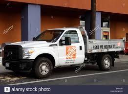 Home Depot Truck For Rent Outside A Store Building In Tustin Stock ...