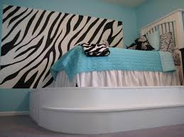 Zebra Bedroom Decorating Ideas Brilliant Decor With Cabinet And Flat Panel Style