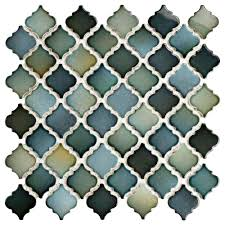 Home Depot Merola Penny Tile by Merola Tile Hudson Tangier Atlantis 12 3 8 In X 12 1 2 In X 5 Mm