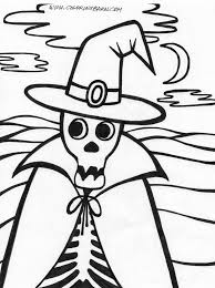 Download Coloring Pages Skeleton Page Halloween For Kids To Color And