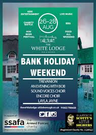August Bank Holiday Weekend Saturday The White Lodge Attleborough