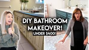 One Day Remodel One Day Affordable Bathroom Remodel Diy Bathroom Makeover On A Budget Renter Friendly