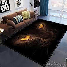 großhandel mode 3d eingangstür matte teppich tiere schwarze katze augen boden teppiche für wohnzimmer schlafzimmer bereich teppich badezimmer küche