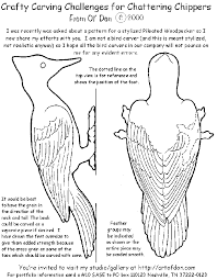 how to carve a wooden wood carving patterns free woodpecker https