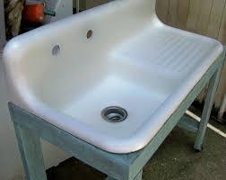 Farmhouse Sink With Drainboard And Backsplash by Antique Cast Iron Kitchen Sink With Drainboard Chrison Bellina