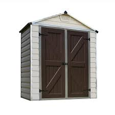 Suncast Alpine Shed Accessories by Suncast Everett 6 Ft 2 75 In X 8 Ft 1 75 In Resin Storage Shed