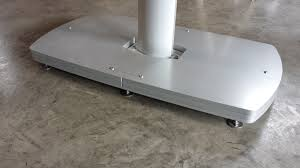 Large Fim Cantilever Patio Umbrella by Fim Flexy Twin Aluminum 8 U0027 X 17 U0027 Rectangular Offset Patio Umbrella