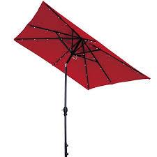 Patio Umbrellas Walmart Usa by Abba Patio 7 By 9 Ft Rectangular Patio Umbrella With 32 Solar