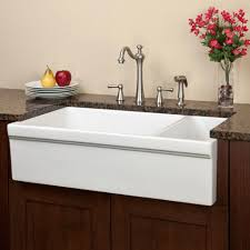 Overmount Kitchen Sinks Stainless Steel by Kitchen Overmount Kitchen Sink White Porcelain Farmhouse Sink 24