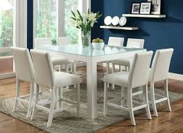 White Counter Height Dining Tables In Glass Top Offered 3 Color Options Black Gray