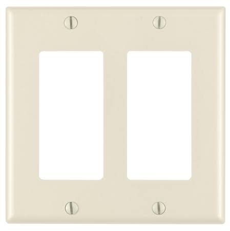 Leviton 2 Gang Decora Wall Plate - Light Almond