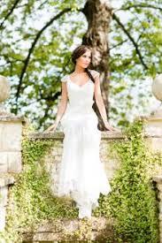 Sheath V Neckline Cap Sleeves Rustic Lace Wedding Dress Sash