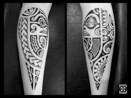 Polynesian Tattoos On Calf By Perle Noire