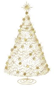 Transparent Christmas Gold Tree PNG Clipart