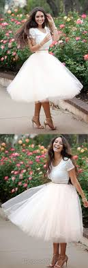 Ball Gown Prom Dress White Dresses Tulle Homecoming Lace