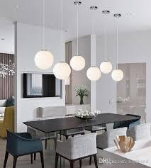 großhandel moderne indoor pendelleuchten weiß glas led pendelleuchte wohnzimmer esszimmer bar hause beleuchtung hängelen dx 50 topmeed