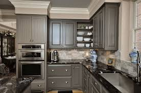 Modern Gray Painted Kitchen Cabinets on Kitchen Design Ideas with