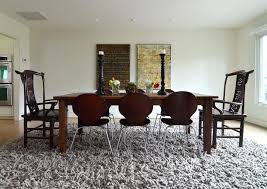 Rugs Under Dining Table Wool Rug Room Tables