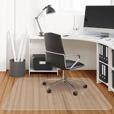 Costway Costway 47 X 47 PVC Chair Floor Mat Home Office Protector For Hard Wood Floors Rakutencom