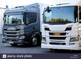100 Diesel Vs Gas Trucks Lieto Finland October 19 2018 Scania P Delivery Trucks White