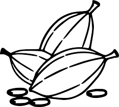 Clipart Cocoa Beans Rh Openclipart Org Coffee Black And White