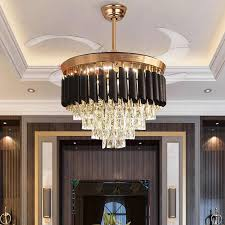 nordic led decke fan lichter luxus kristall 42in invisable